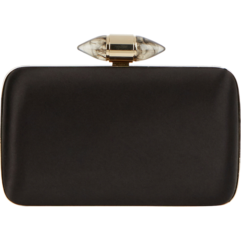 Givenchy Black Satin Clutch With Jewelry Clasp