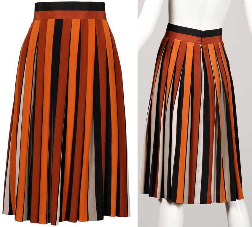 1970's vintage Givenchy colourblock skirt