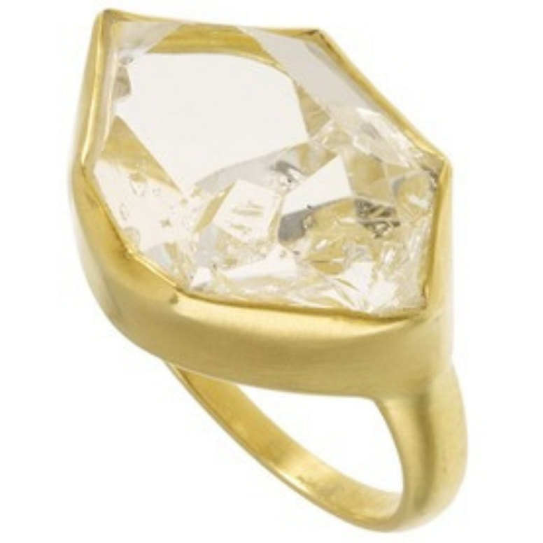 Pippa Small Herkimer Diamond Greek Ring