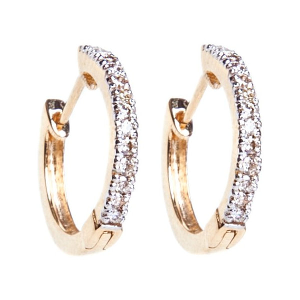 i+i jewellery Diamond Half Hoop Earrings