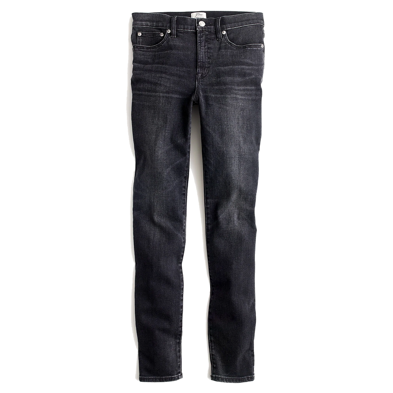J.Crew Toothpick Jean In Charcoal Wash