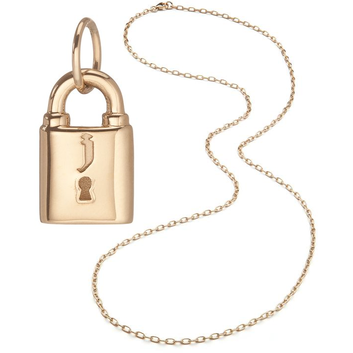 Jennifer Fisher Small Family Gothic Lock Pendant Necklace​