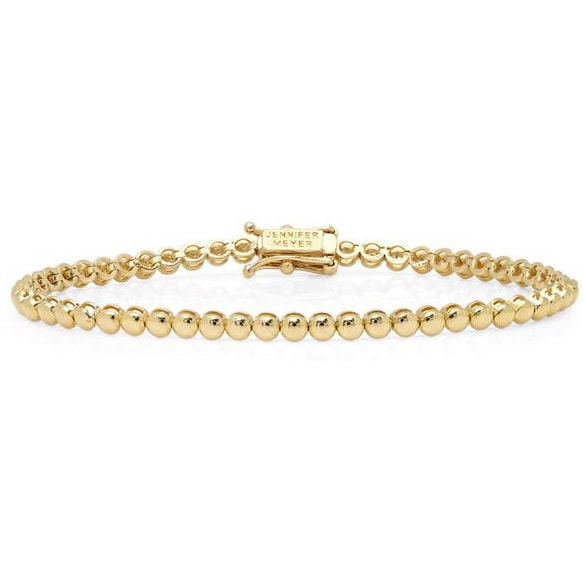 Jennifer Meyer Gold Mini Bezel Tennis Bracelet