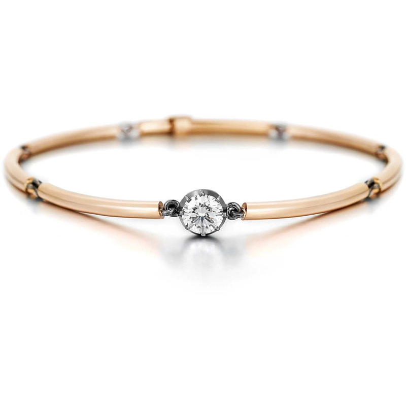 Jessica McCormack Chi Chi Rose Gold and Diamond Bracelet