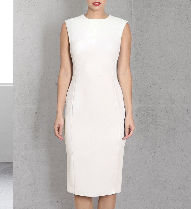 Karen Gee Blessed dress in Ivory