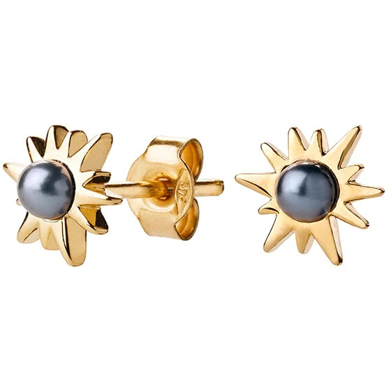 Karen Walker Temptation Gold and Pearl Stud Earrings​