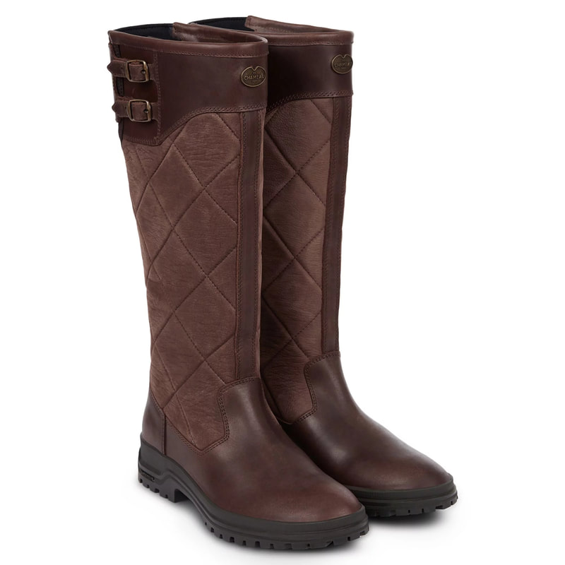 Le Chameau 'Jameson' Caramel Quilted Boots