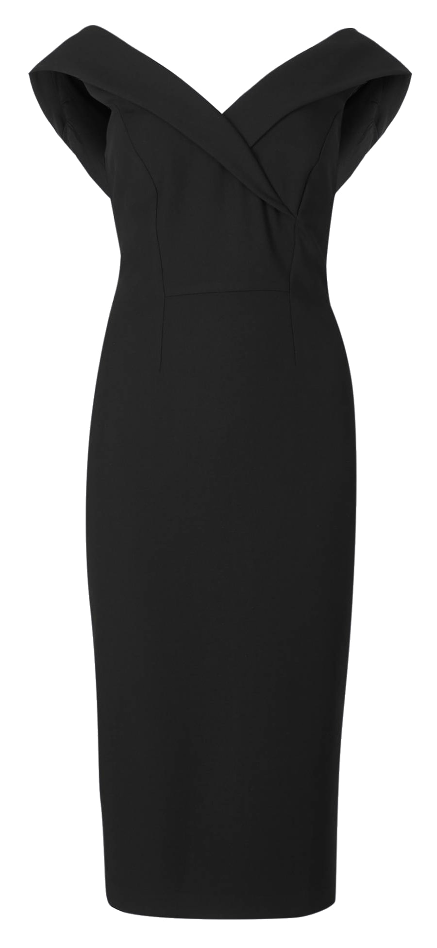M&S Collection Black Double Crepe Bodycon Dress