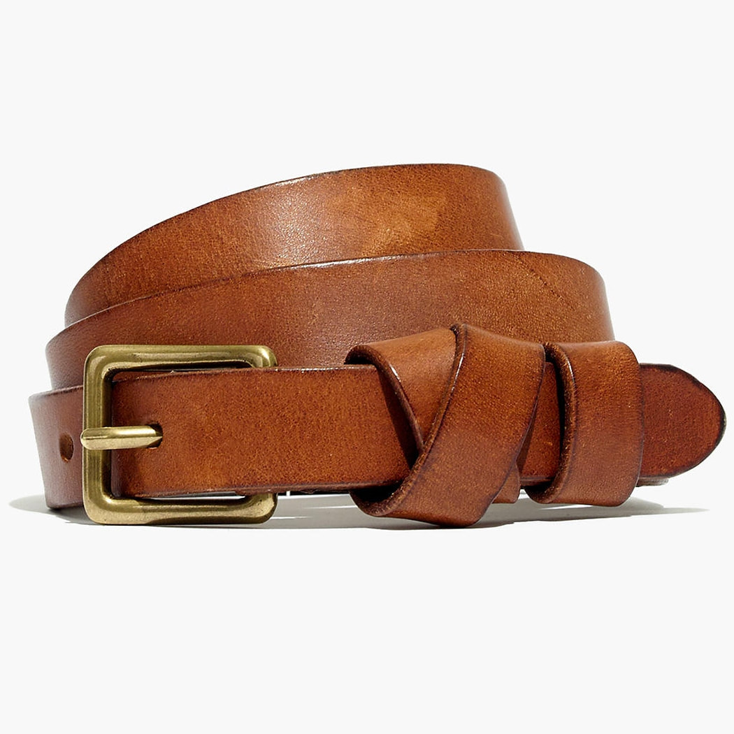 Madewell English Saddle Leather Crisscross Skinny Belt