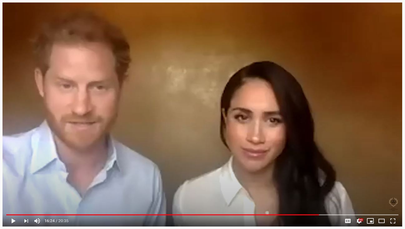 Harry and Meghan spoke with young leaders from the QCT network