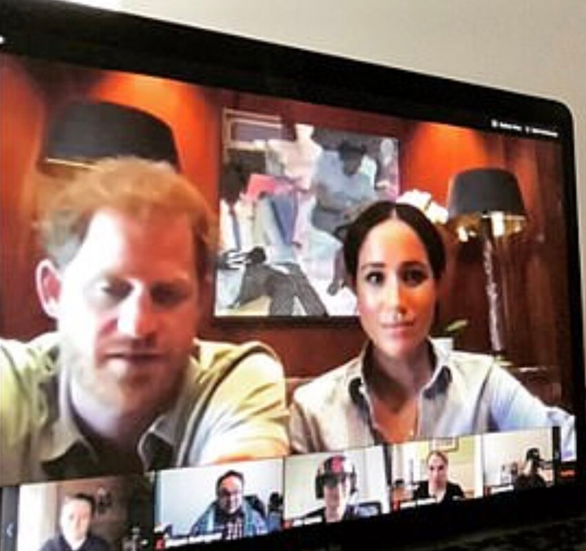 Meghan Markle and Prince Harry video chat with Crisis Text Line staff