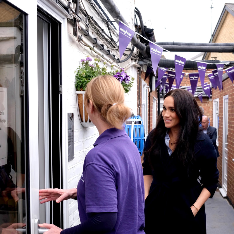 Duchess Meghan Markle visits The Mayhew in January 2020