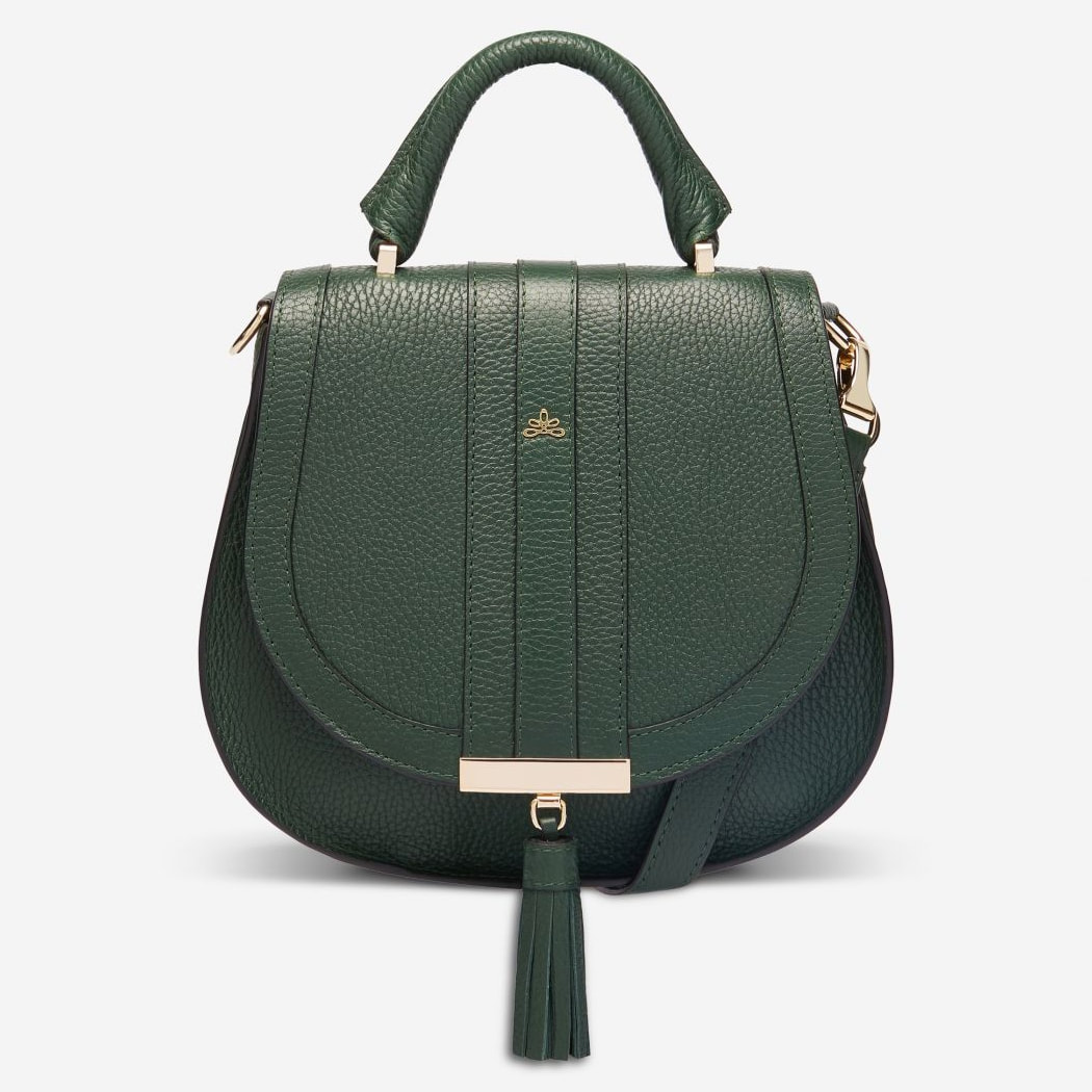Demellier London The Mini Venice Bag in Forest Grain