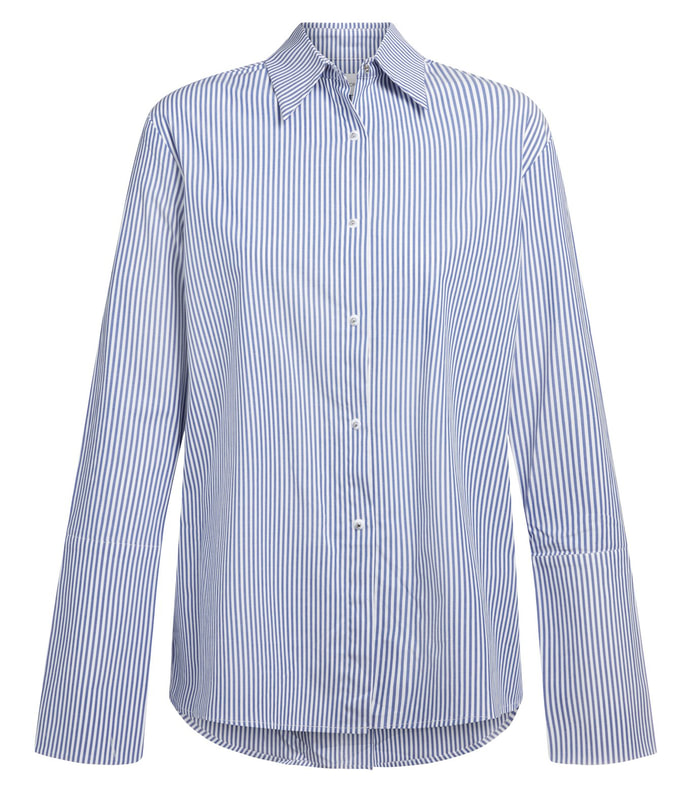 Misha Nonoo 'Husband' blue stripe shirt