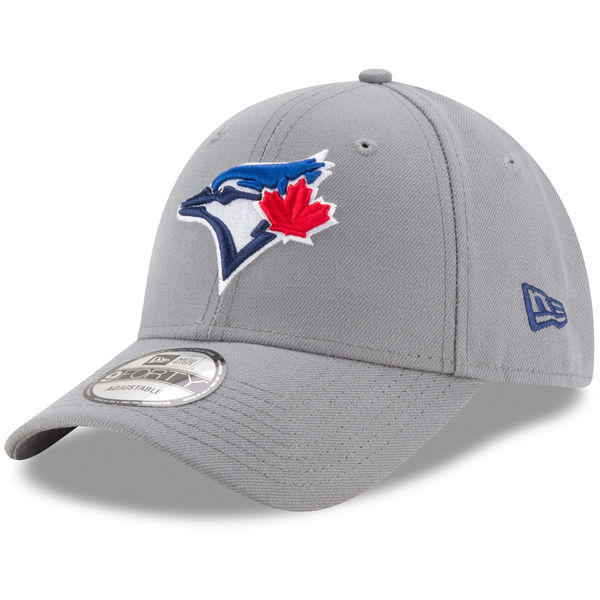 New Era Toronto Blue Jays Gray The League Storm 9FORTY Adjustable Cap
