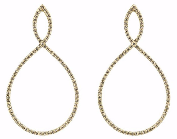 Emily Mortimer Nova Gold White Topaz Earrings
