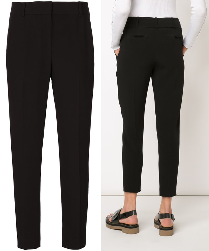 Alexander Wang black cropped trousers as seen on Meghan Markle