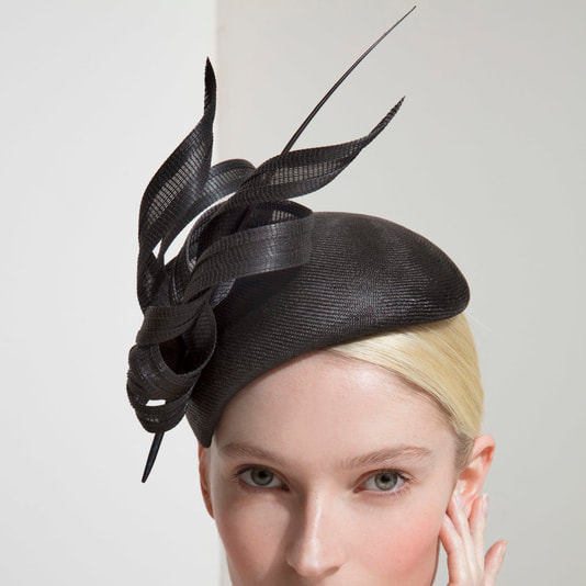 ea6c4e12 Philip Treacy Black Straw Hat with Buntal Ribbon - Meghan Markle ...