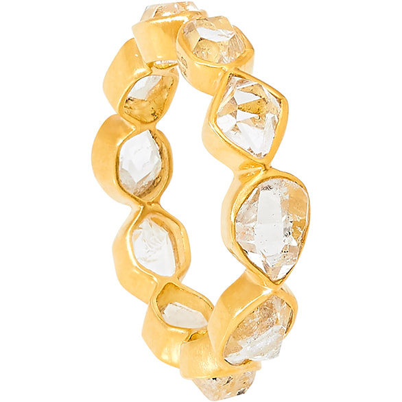 Pippa Small Herkimer Diamond Eternity Ring