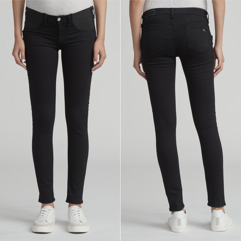 Rag & Bone Coal Black Maternity Skinny Jeans