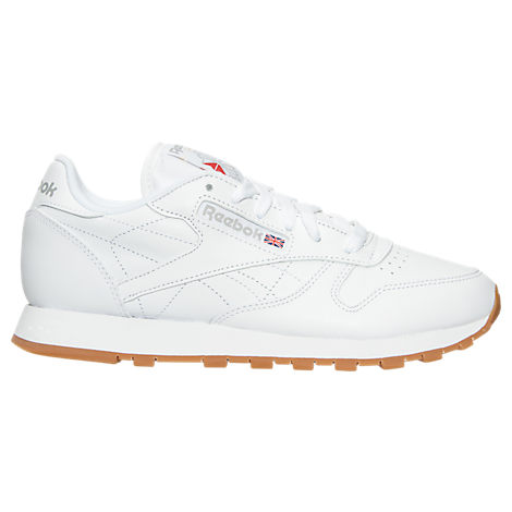 Reebok White Classic Leather Gum Casual Shoes