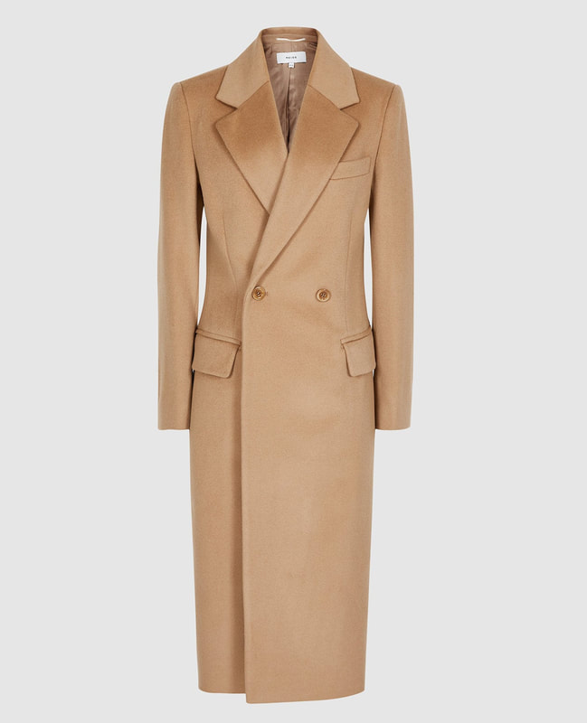 Reiss 'Sabel' camel slim wool coat