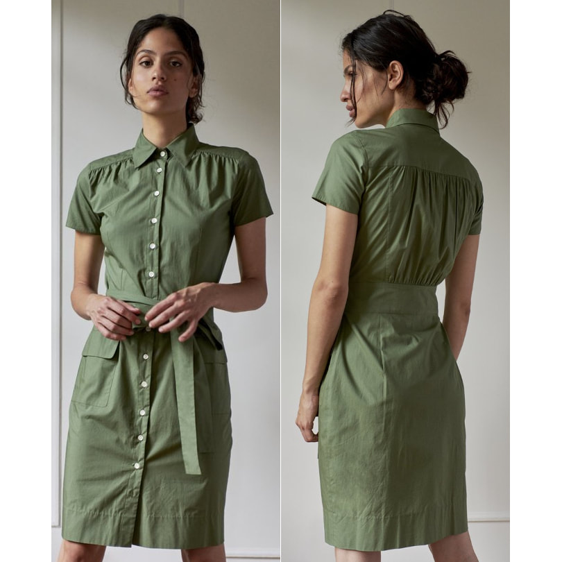 Room 502 ​Khaki Model 2 - Stephanie Shirt Dress