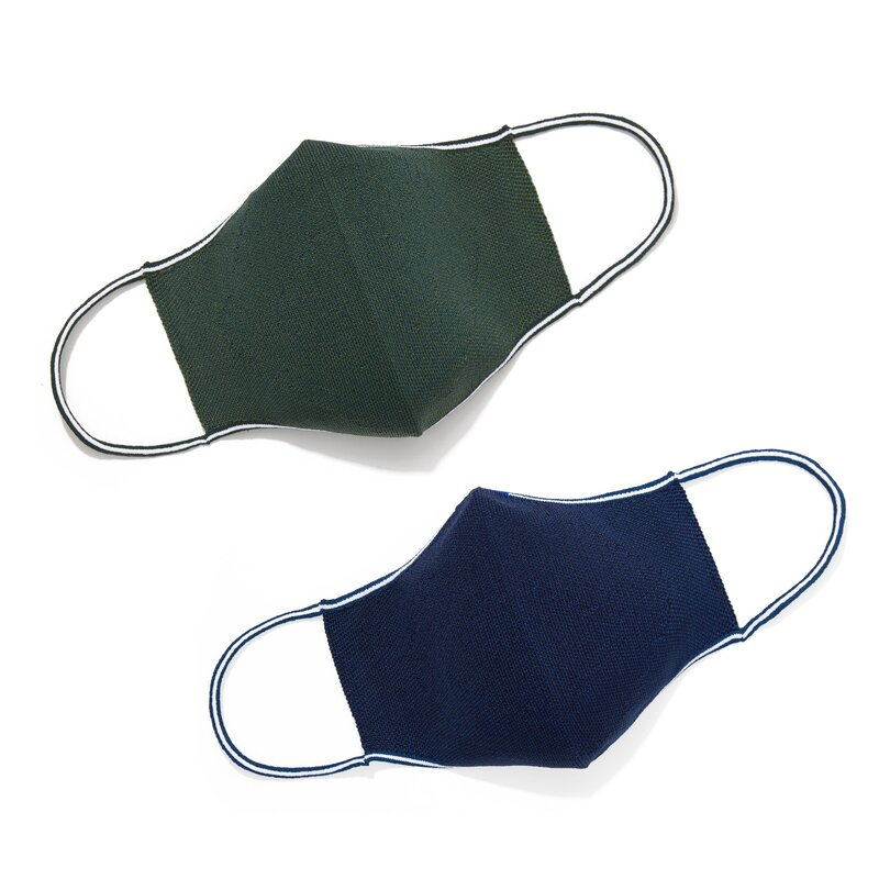 Rothy's 2-Pack Face Mask In Olive And Navy