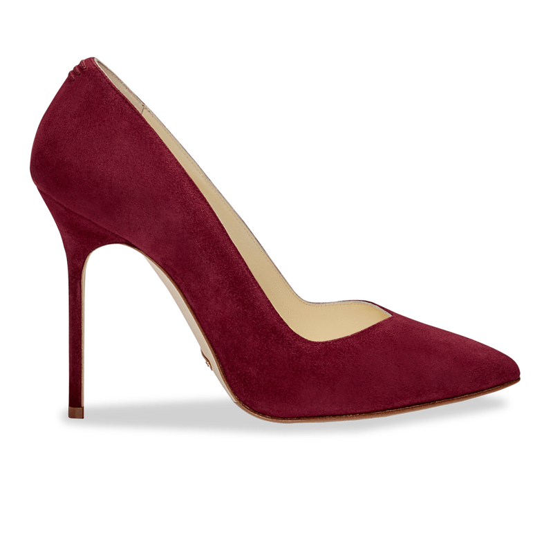 Sarah Flint 'Perfect Pump 100' in a Cabernet suede