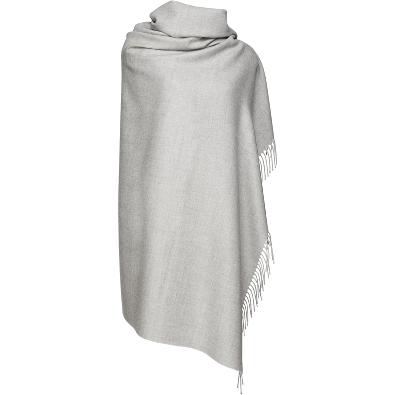 Sentaler Sand Grey Royal Baby Alpaca Wrap