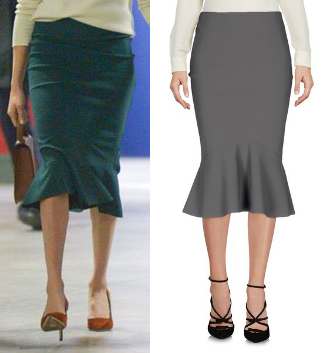 Greta Constantine fluted skirt as seen on Meghan Markle in Belfast