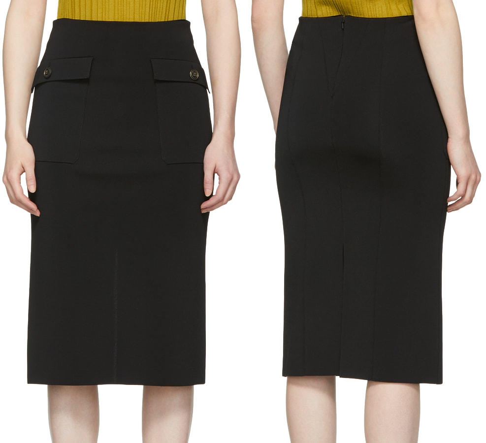Givenchy patch pocket pencil skirt