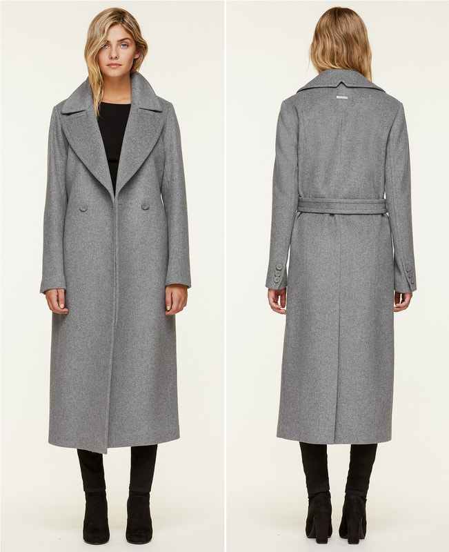 Soia & Kyo 'Adelaida' Ash Grey Coat as seen on Duchess Meghan Markle