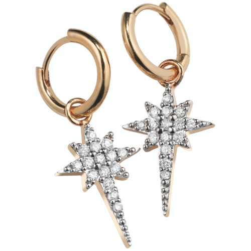 Sophie Lis 'Fallen Star' Hoop Earrings