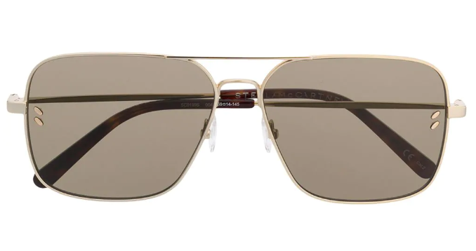 Stella McCartney gold-tone aviator sunglasses Meghan Markle