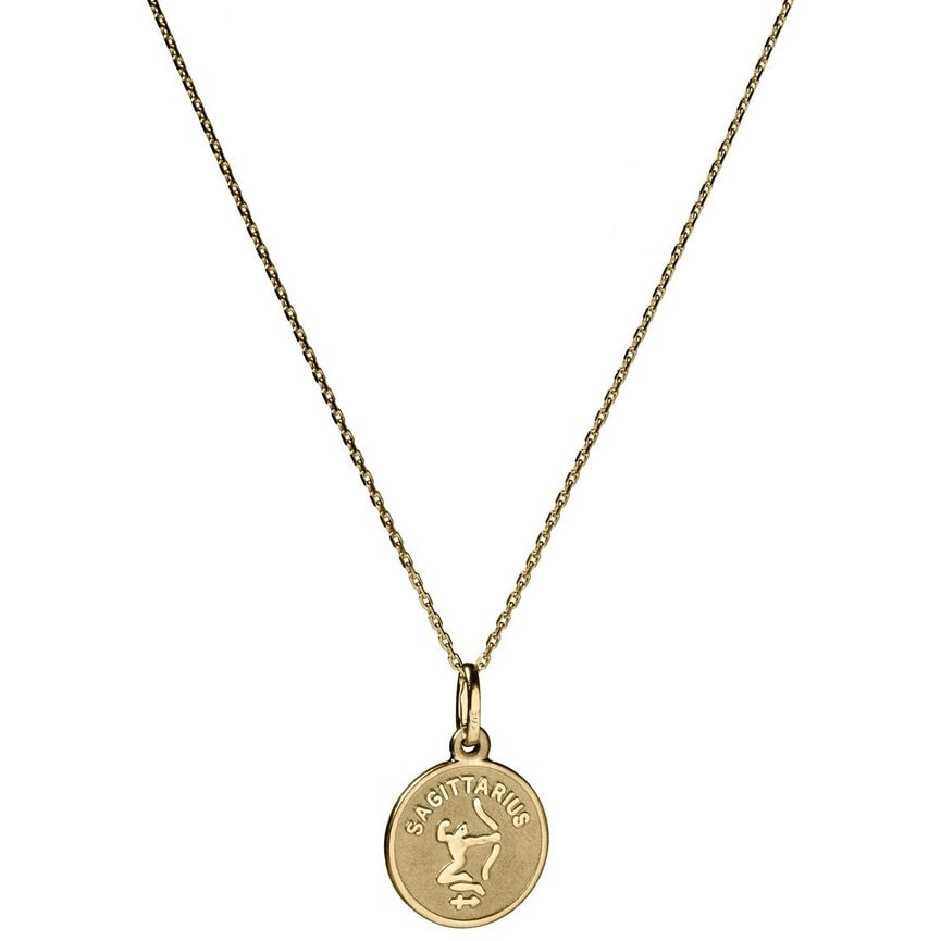 Suetables 'Vanessa' Gold Zodiac Horoscope Charm Necklace