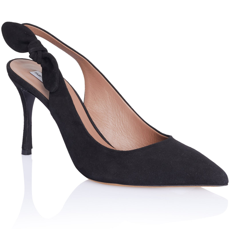 Tabitha Simmons Millie Black Suede Slingback Pump