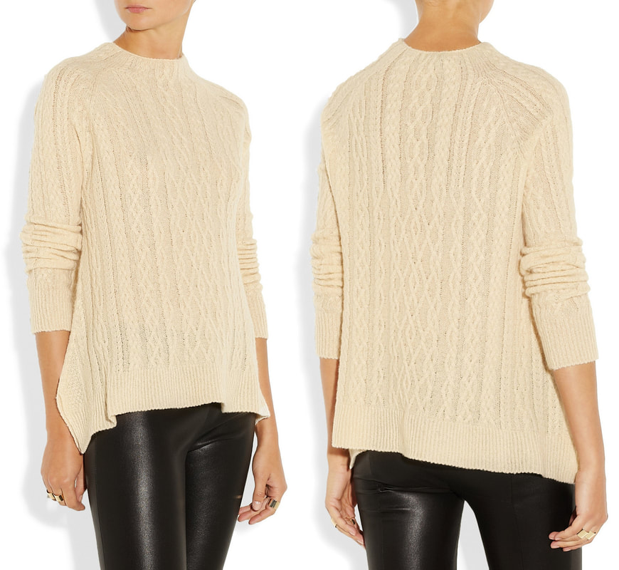 The Row 'Bea' cream cable-knit sweater