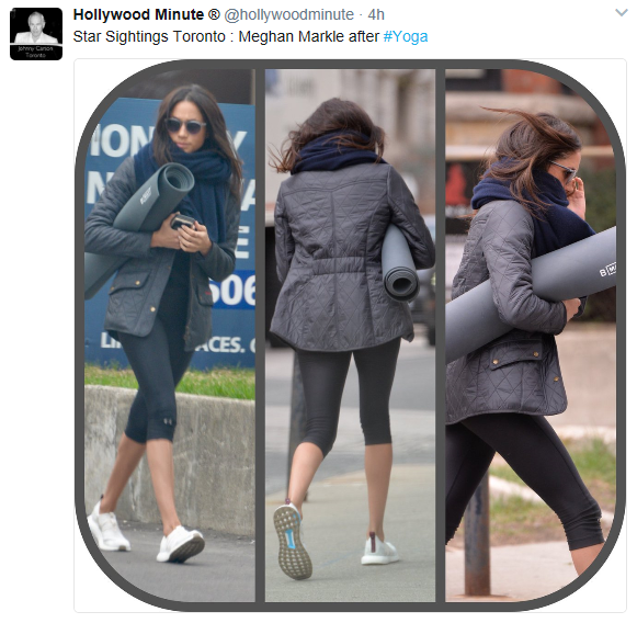 Meghan Markle Heads To Yoga In Quilted Barbour Jacket
