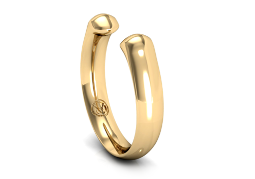 Vargas Goteo 18k Gold Manta Kiss Stack Ring