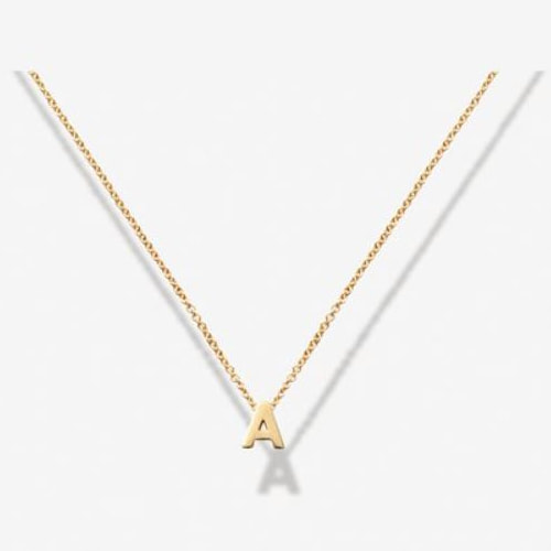 Verse Gold Love Letters Collection A Initial  Pendant Necklace
