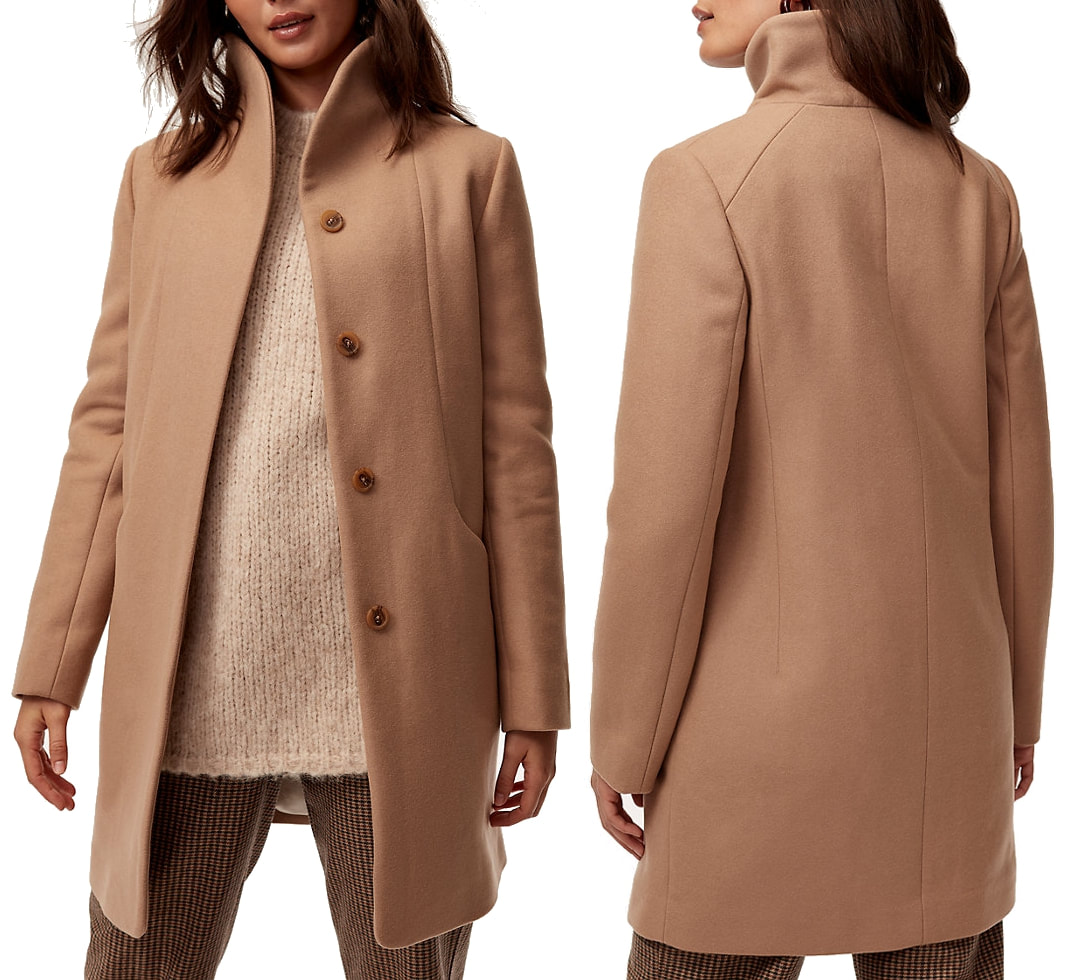 Aritzia Wilfred Cocoon Coat in Chasm
