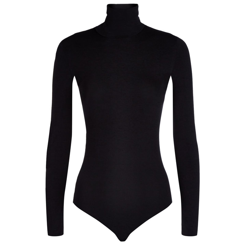Wolford Colorado Black Turtleneck Bodysuit